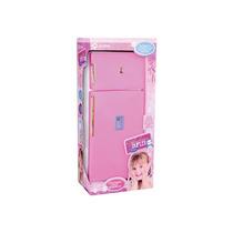 Geladeira Duplex Infantil Pink C/acessórios Lua De Cristal