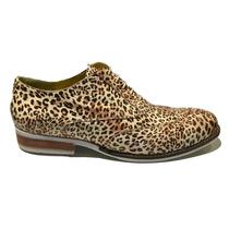 Zapato Cuero Animal Print Hombre Granada Palermo