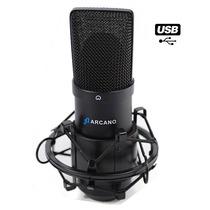 Microfone Usb Arcano Para Estúdio Bku-01 Usb 01 Completo