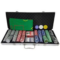 Maleta Poker 500 Fichas Numeradas Kit Completo + Nota Fiscal