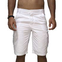 Bermuda Masculina Colorida Branco Ou Coral