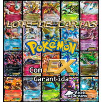 Lote De Cartas Pokémon Tcg + Ex + Holográfica + Brinde