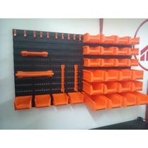 Panel Caja Organizador Herramientas De Pared 43 Pzas