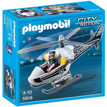 Playmobil Helicóptero De Policía 5916 Playset 4 A 10 Años