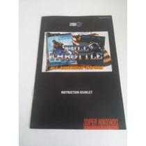 Manual Full Throttle Original Super Nintendo