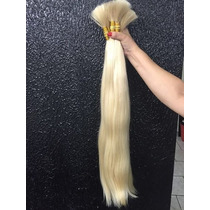 Mega Hair Cabelo Humano Natural Loiro Liso 70cm 150gramas