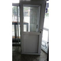 Puerta Aluminio Modena 1/2 Vidrio Entero