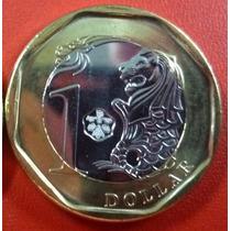 Singapure Moneda Bimetalica 1 Dolar 2013