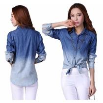 Camisa Blusa Jeans Feminina - Pronta Entrega Varios Modelos