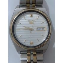 Relógio Seiko 5 Automatico 7s26 0571 Com Detalhes Dourado