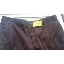 Pantalon De Vestir Marron Tela Gruesa Talla 46