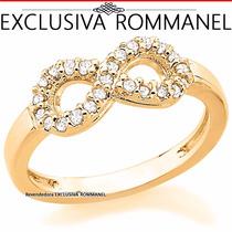 Rommanel Anel Simbolo Infinito Cravejado 24 Zirconias 511604