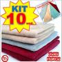 10 Panos Microfibra Flanela Lava Carro Seco * Anti-risco *