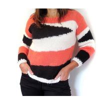 Sweaters Y Sacos Tejidos A Mano En Lana O Hilo