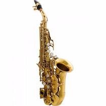 Saxofone Sax Soprano Curvo Bb Hcssc-310gl Laqueado Harmonics