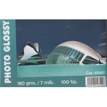 Papel Fotografico Glossy.180g.postal.100 Hojas. Economico