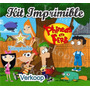2x1 Kit Imprimible Phineas And Ferb + Candy Bar Souvenirs