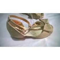 Zapatillas Oro Princesas Disney Niña No. 10 Amer 16-17 Mex