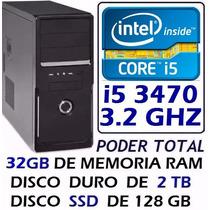 Super Pc I5 3470+2 Tb+32 Gb De Ram + Ssd 128gb Poder Total