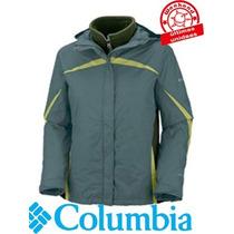 Campera Columbia Mujer 3en1 Argon Ice Talle:s -weekendpesca-