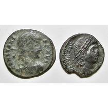 Lote De 2 Monedas Roma Antigua Bronce