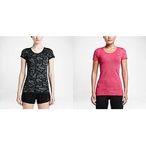 Remera Nike Dri-fit Knit Contrast Running Mujer Original Usa
