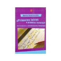 Libro Primeras Letras O Primeras Lecturas *cj