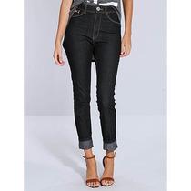 Calça Jeans Skinny Hot Pants Feminina Denuncia