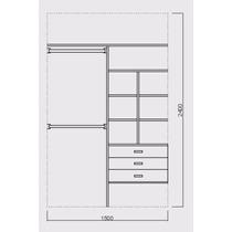 Interior De Placard De 150 Cm X 260 Cm $ 4600.-