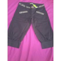 Pantalon Dama Cy Zone Marron 3/4, Talla 28, Algodon 100%