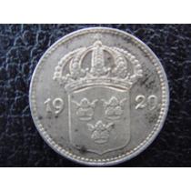 Suecia - Moneda De 10 Ore Plata , Año 1929 - Muy Bueno