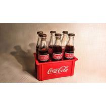 Antiguas Botellitas De Coca Cola Y Cajon