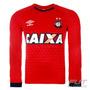 Camisa Umbro Atlético Paranaense Treino 2015 Manga Longa