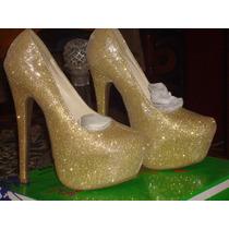 Zapatos Tacones Con Plataforma Elegantes 100% Originales