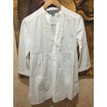 Camisa Zara Blanca Talla M 3/4 De Manga Como Nueva Suelta