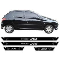 Jgo Soleira Resinada Peugeot 206 1998 A 2010 4 Portas