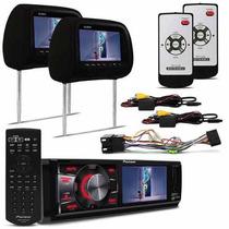 Dvd Player Pioneer Dvh 7580 Usb + Tela Encosto Cabeca Preto