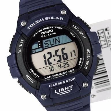 00f1f3bdaa4 Relógio Casio Digital Solar Ws220 Azul