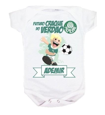 Body Bebê E Camiseta - Palmeiras Palestra - Personalizada - R  34 040faa1f3db84