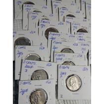 Monedas Usa Lote 5 Cents ( 61 Monedas )