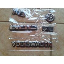 Kit 5 Emblema Vw Volkswagen Gol Gl 1.8 84 85 86 87 88 89 90