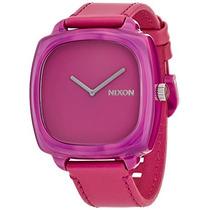 Reloj De Nixon Obt Shocking Mármol Rosa Na Mujeres De