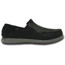 Zapato Crocs Caballero Walu Express Leather Loafer Black