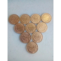 10 Monedas De 2 Pesos Oro 1945
