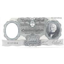 Billete 500 Pesos Moneda Nacional Bottero 2122 Excelente++