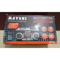 Radio Portatil Marca Matsui Usb Radio Fm/am Y Memorycard
