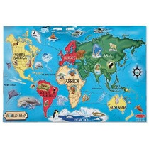 Mapa Melissa & Doug Mundial 33 Piezas Puzzle Floor
