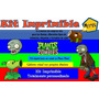 Kit Imprimible Planta Vs Zombie,tarjeta,invita