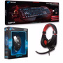 Teclado Mouse Auriculares Gamer Kit Combo Noga Led Envio