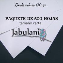 Papel Couche Mate 500 Hojas Tamaño Carta 130 Gr